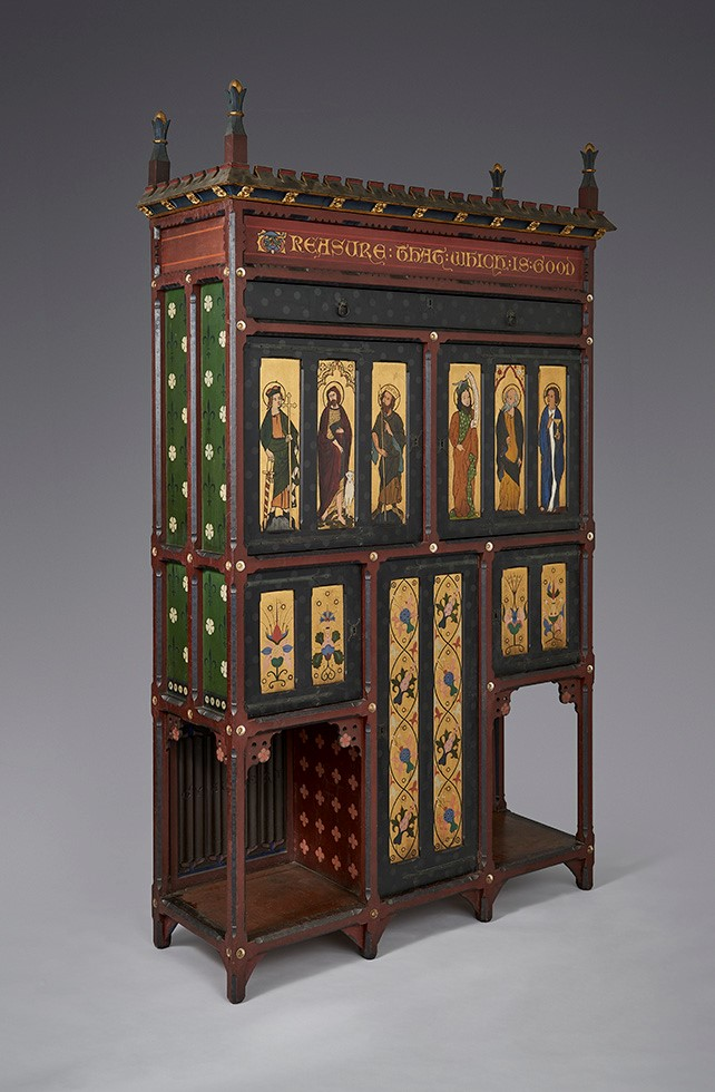 Gualbert Saunders painted cabinet