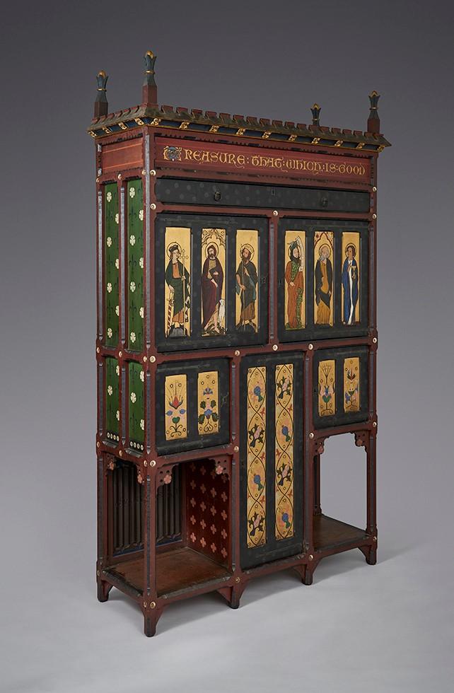 Gualbert Saunders painted cabinet