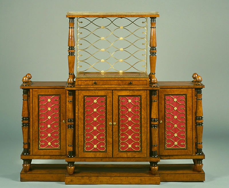 George Bullock 'A British Oak Cabinet presented by Her Majesty to her Royal Highness The Princess Sophia of Gloucester. August 1814' (English Heritage, Ranger's House, Blackheath)