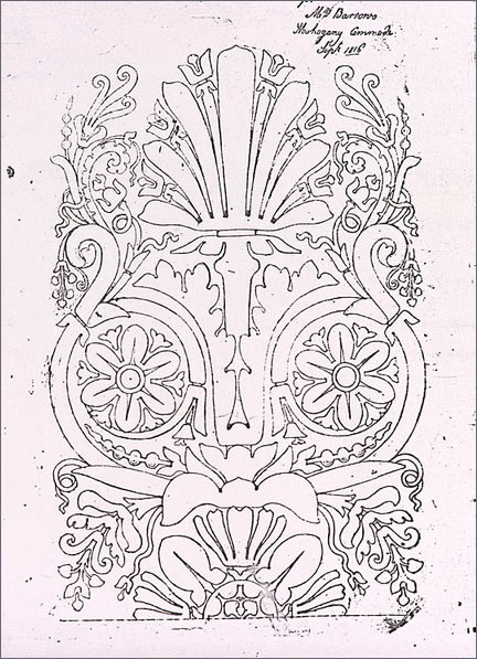 George Bullock Design for marquetry from the 'Wilkinson Tracings' (City Museums and Art Gallery, Birmingham)