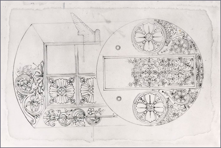George Bullock Design for inkstands from the 'Wilkinson Tracings' (City Museums and Art Gallery, Birmingham)