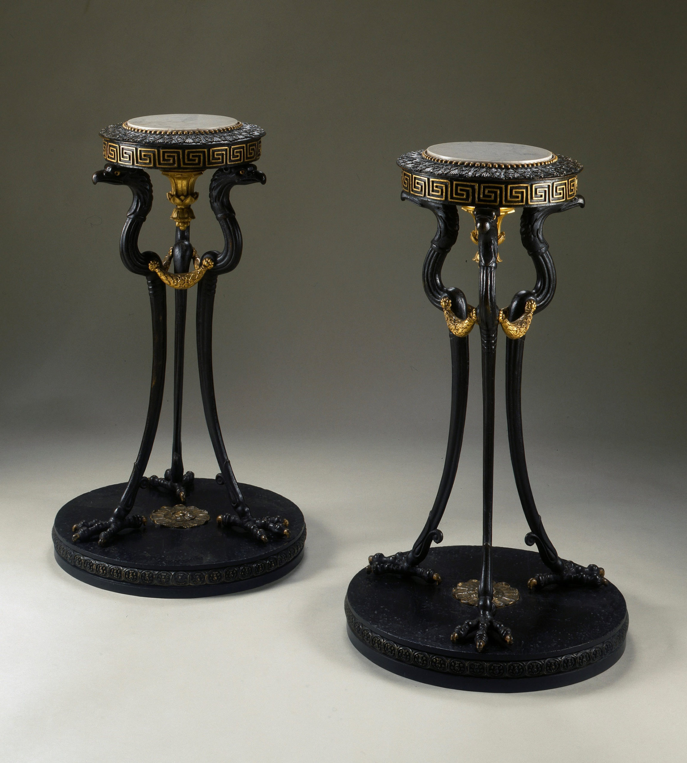 George Bullock Pair of tripods and stands, supplied to Samuel Day Junior, Hinton House, Bath, 1814 (Walker Art Gallery, Liverpool)