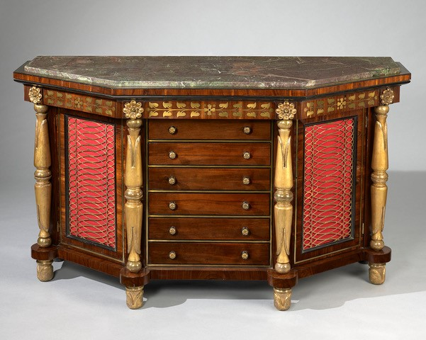 George Bullock 'Pier commode', circa 1818, probably 'Finished Stock' sale, Christie's, 3-5 May 1819, day 2, lot 44. A comparable commode supplied for Napoleon on St Helena, 1815 (National Gallery of Victoria, Melbourne)