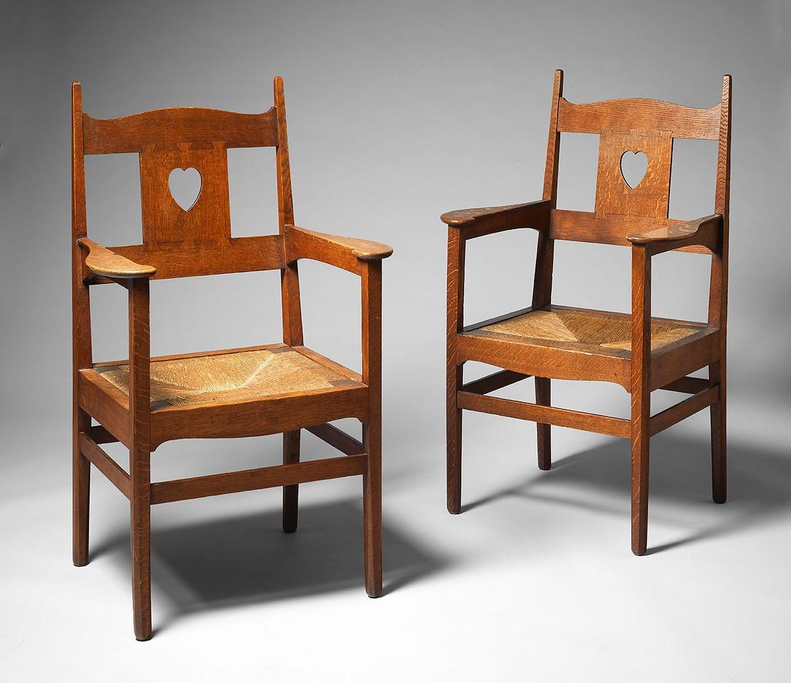 Voysey Pair of Armchairs