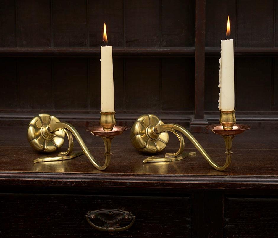 10 Benson Pair of Piano or Mantelpiece Candlesticks