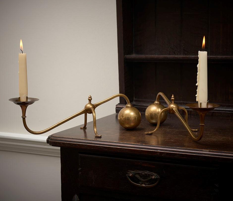 9 Benson Pair of Piano or Mantelpiece Candlesticks
